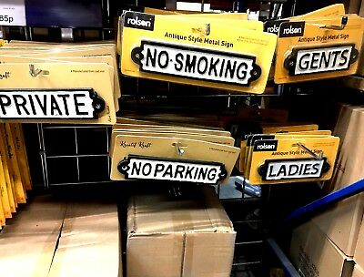 New Fantastic Cast Vintage Style Metal Door,no Smoking And No Packaging Signs