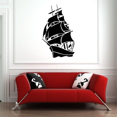 PIRATE SHIP large wall stickers living room bedroom vinyl wall decal