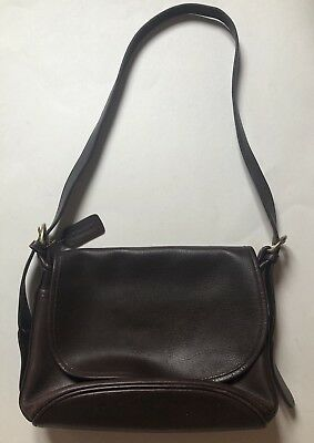 ad2070e03fee Vintage Coach Fletcher Brown Leather Crossbody Shoulder Bag Purse ~ 4150