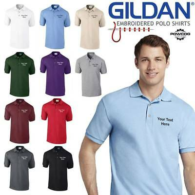 Gildan 3800 Embroidered High Quality Polo Shirt + FREE PERSONALISED CUSTOM TEXT