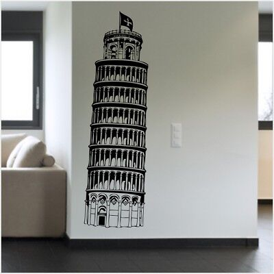 LEANING TOWER OF PISA wall sticker living room kitchen removable decal
