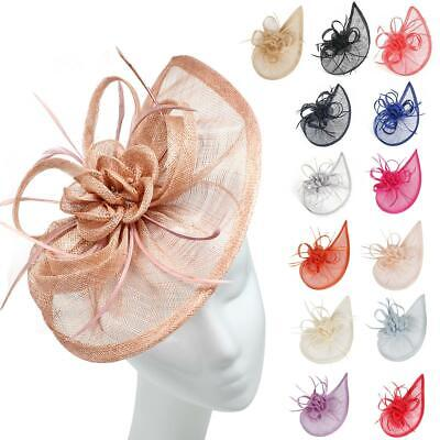 Large Headband and Clip Teardrop Hat Fascinator Weddings Party Race Royal Ascot