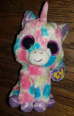 da33af4d775 TY BEANIE BOO WISHFUL UNICORN Medium Excellent Condition PURPLE Hang ...