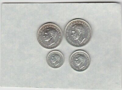 1941 Four Coin Silver Maundy Set In Near Mint Condition.