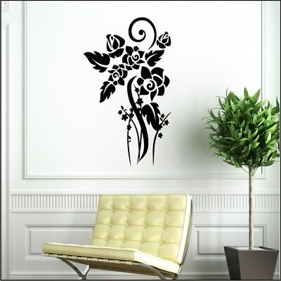 FLORAL art wall sticker living room dining room flower graphic decal