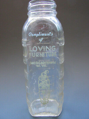 LOVING FURNITURE Morgantown West Virginia Baby Bottle Advertising Clown Souvenir