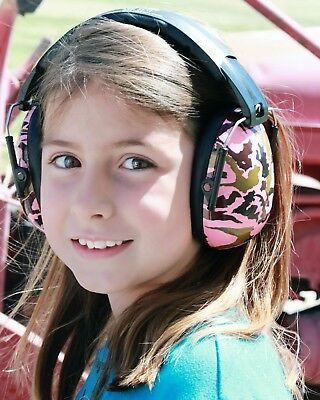 Banz Kids Ear Noise Attenuating Defenders Ear-Muffs 2 - 10  years Pink Camo