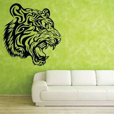 TRIBAL TIGER large wall sticker bedroom living room removable decals