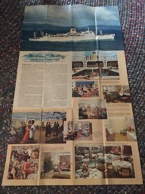 Matson Lines South Pacific Cruise Brochure 1960s