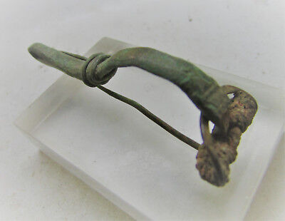 Roman Era Finest Military Bow Type Brooch Authentic Imperial Artefact