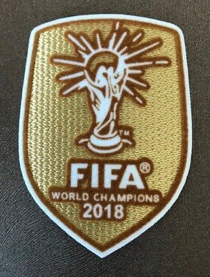 SALE! Gold World Cup 2018 Iron On Embroidered Patch Badge France FFF Champions