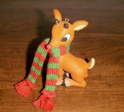 """RUDOLPH THE RED-NOSED REINDEER 3.5"""" pvc Figure Ornament 2008"""