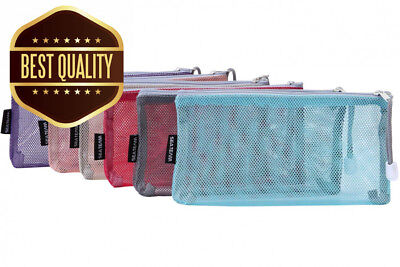 Sea Team 6pcs Multicolored Portable Travel Toiletry Pouch Nylon Mesh...