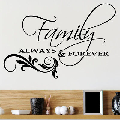 ALWAYS AND FOREVER wall quote decal love sticker bedroom ...