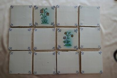 Tiles Ox-head and Polychrome: Late Victorian, Set of twelve, LOT 1