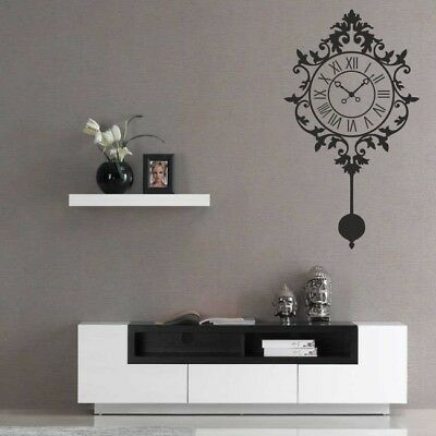 RETRO CLOCK wall sticker hippie sixties antique x time lace decal art vinyl