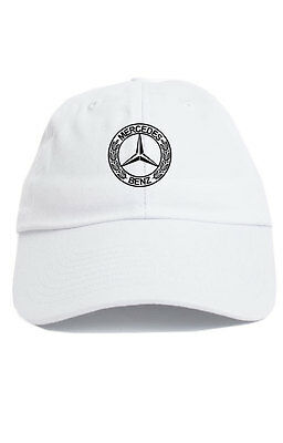 a278e2a143a23 Mercedes Benz Logo Custom Unstructured Dad Hat Baseball Cap New- White