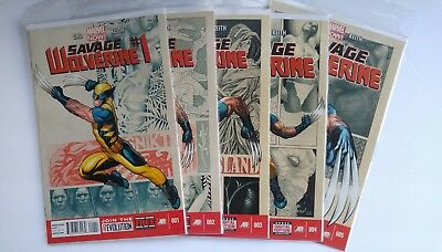 Savage Wolverine #1 #2 #3 #4 #5 Complete Frank Cho Run 1st Prt Set Marvel Comics