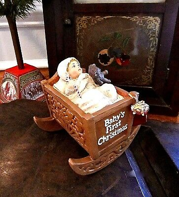 Bethany Lowe Baby's 1St First Christmas Ornament Decoration ~ Retired