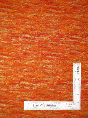 Autumn Fall Orange Red Abstract Gold Accent Cotton Fabric AENathan 1 Yard 4 Inch