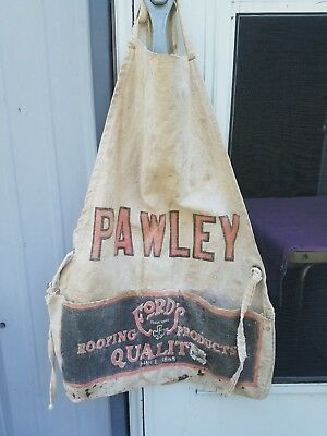 Vintage Advertising Nail Apron PAWLEY     FORDS QUALITY ROOFING PRODUCTS