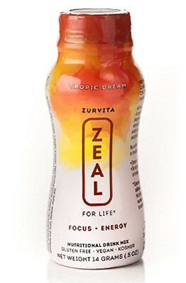 ZEAL For Life Tropic Dream 24 single serving bottles exp 08/20 Free Shipping