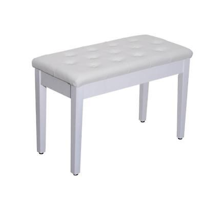 HOMCOM Fauxleather Large Double Piano Stool Seat Bench Chair With Storage Box