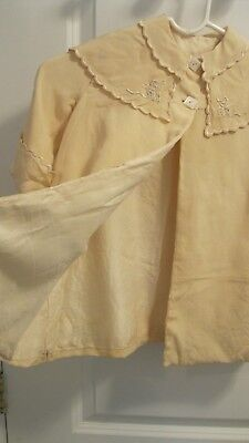 Antique Baby Clothes - Coat w/ Scalloped/Embroidered Cape Collar