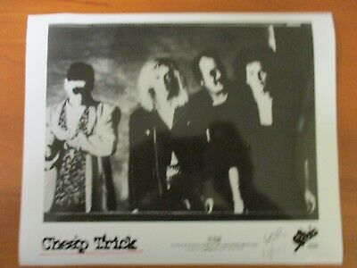 Vintage Glossy Press Photo Musicain Cheap Trick The Flame Surrender