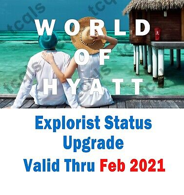 Hyatt Explorist Status Instant Upgrade valid until Feb 2021