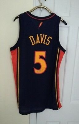 480ad217b Baron Davis Golden State Warriors NBA Authentic Sewn Jersey Men L Reebok  Vtg Hwc