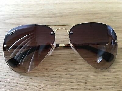 2f2fdb6dbfd NEW RAY BAN Sunglasses AVIATOR Gold Frame RB 3449 001 13 Gradient ...