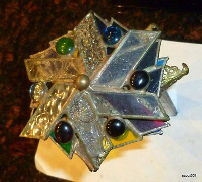 Vintage Large Elaborate Stained Glass Victorian Style Kaleidoscope