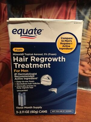 Equate Hair Regrowth Treatment for Men Minoxidil Topical Aerosol, 5% (Foam), 3ct