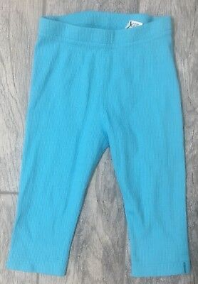 NWT Hanna Andersson Cropped Ribbed Leggings Baby Blue Size 100
