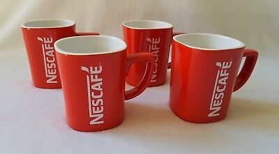 4 Nescafe Coffee Drinking Cups / Mugs - Like New Perfect Condition
