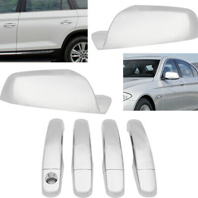 Chrome Side Door Handle And Mirror Cover For Chevy GMC 2010-2016 US Seller