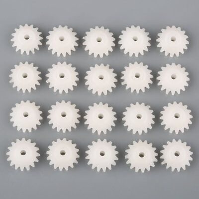 US 20pcs Plastic Bevel Gear Right Angle Drive Plastic Gears 16T Hole 2mm Toy DIY