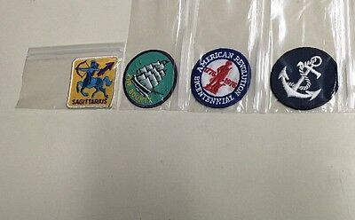 4 Patch Lot Misc. American Revolution The Bounty Anchor Sagittarius Patches