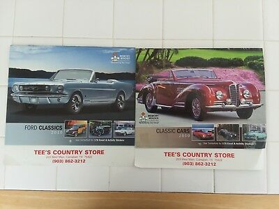 Ford Classics & Classic Cars Calendars (2), 2010, 13 Pictures On Each Calendar