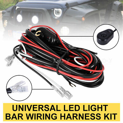 12V Car LED On/Off Control Switch Fog Light Lamp Wiring Harness Fuse Relay Kit