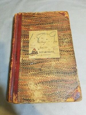 Paterson, New Jersey Fire Department Daily Log Book 1897-1898
