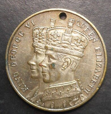 Australia 1937 George VI & Elizabeth New South Wales  Coronation Medallion 31mm