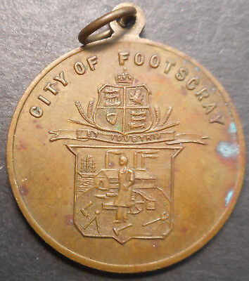 Australia 1953 QEII  Coronation - City of Footscray Medallion  31mm
