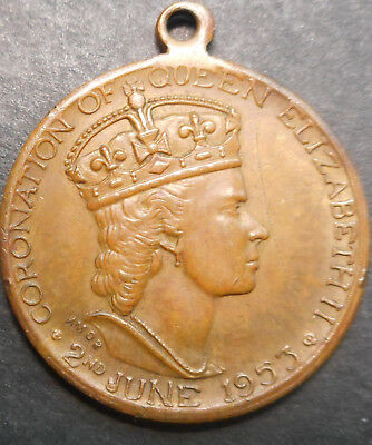 Australia 1953 QEII  Coronation - Shire of Mansfield Medallion  31mm