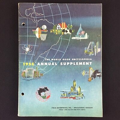 Vtg 1955 World Book Encyclopedia Annual Supplement Important Events Politics