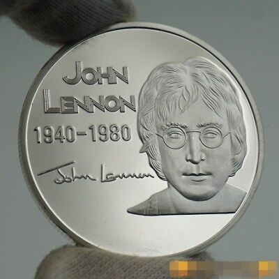 The Beatles John Lennon Rock and Roll Hall of Fame Silver Commemorative Coin US