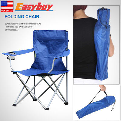 1x Folding Camping Chair Featival Hiking Fishing Garden Indoor Outdoor Seat Gift
