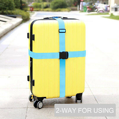 Add a Bag Luggage Strap Adjustable Suitcase Belt Straps Accessories for Travel