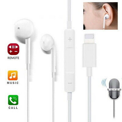 For Apple iPhone XS max XR X Wired Bluetooth Earbuds Headphones Headsets In-ear